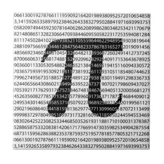 Original black number pi day mathematical symbol ceramic tile