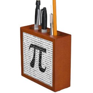 Original black number pi day mathematical symbol desk organiser