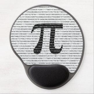 Original black number pi day mathematical symbol gel mouse pad
