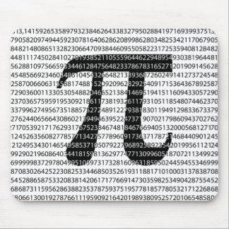Original black number pi day mathematical symbol mouse pad