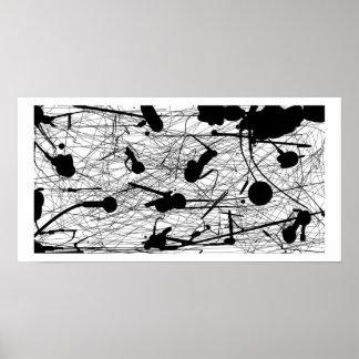 Original Black Splatter Painting Poster