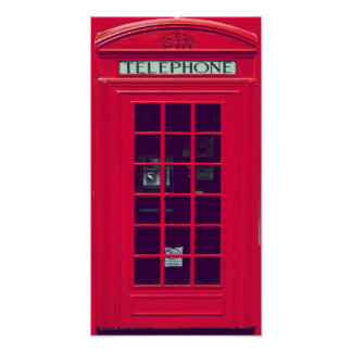 Original british phone box poster