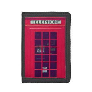 Original british phone box tri-fold wallet