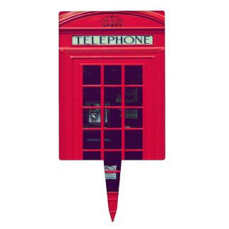 Original british red phone box cake topper