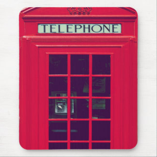 Original british red phone box mouse pad