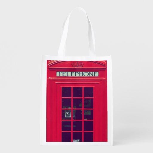 Original british red phone box market totes