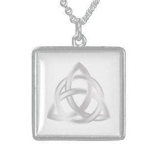 Original Celtic Triquetra Knot silver icon Sterling Silver Necklace