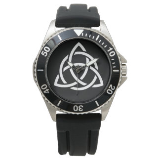 Original Celtic Triquetra Knot white icon Watch