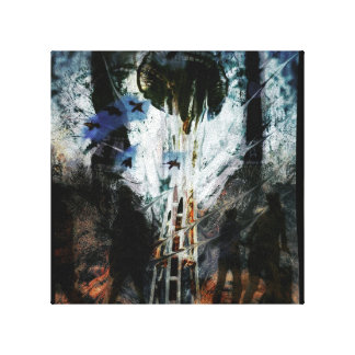 Original Chaos Painted Needle Stretched Canvas