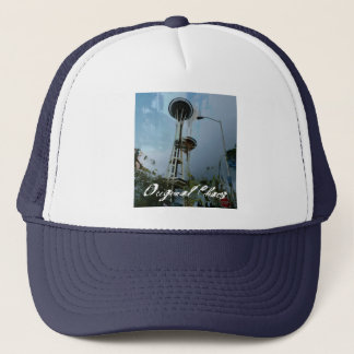 Original Chaos Tropic Needle Navy Snapback Trucker Hat