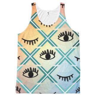 Original Colorful Eyes Design All-Over Print Singlet