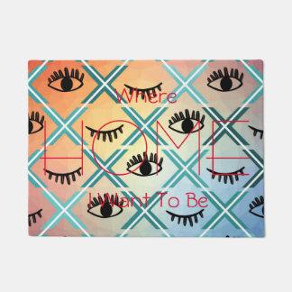 Original Colorful Eyes Design Doormat