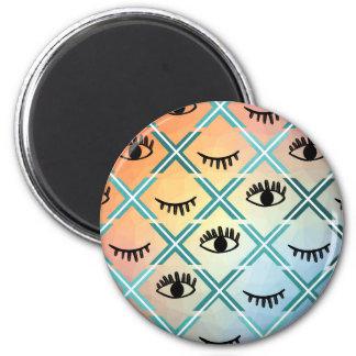 Original Colorful Eyes Design Magnet