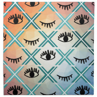 Original Colorful Eyes Design Napkin