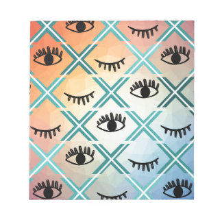 Original Colorful Eyes Design Notepad