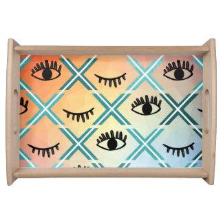 Original Colorful Eyes Design Serving Tray