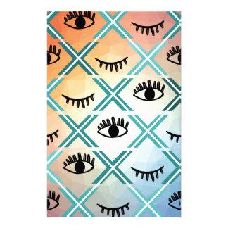 Original Colorful Eyes Design Stationery