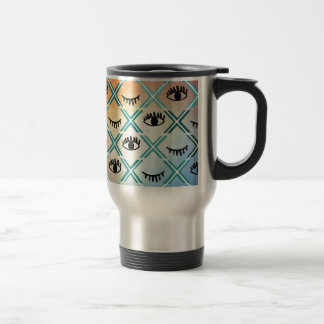Original Colorful Eyes Design Travel Mug