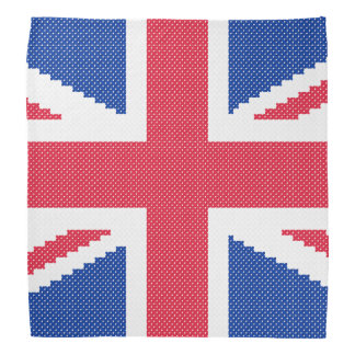 Original cross-stitch design Union Jack Bandana