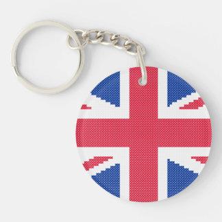 Original cross-stitch design Union Jack Key Ring