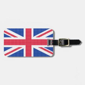 Original cross-stitch design Union Jack Luggage Tag