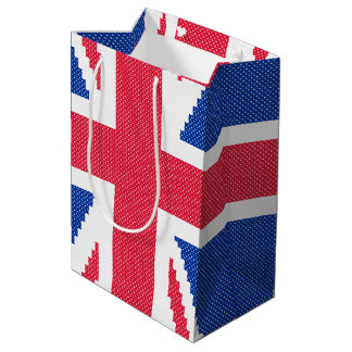 Original cross-stitch design Union Jack Medium Gift Bag