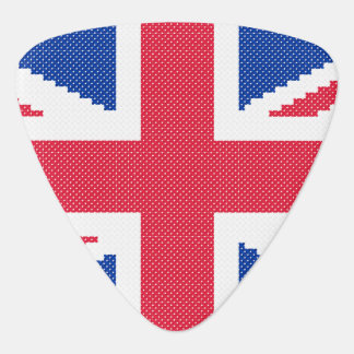 Original cross-stitch design Union Jack Plectrum