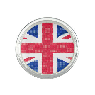Original cross-stitch design Union Jack Ring
