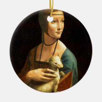 Original Da vinci's paint Lady with an Ermine Ceramic Ornament
