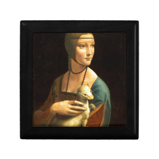 Original Da vinci's paint Lady with an Ermine Gift Box