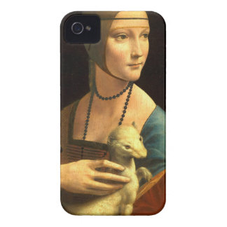 Original Da vinci's paint Lady with an Ermine iPhone 4 Case-Mate Case