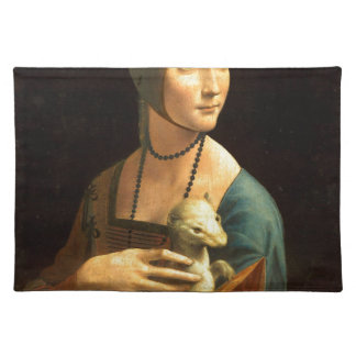 Original Da vinci's paint Lady with an Ermine Placemat