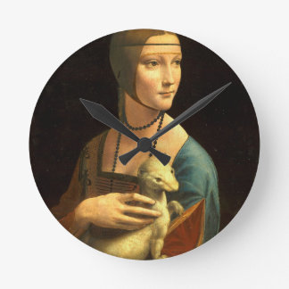 Original Da vinci's paint Lady with an Ermine Round Clock