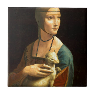Original Da vinci's paint Lady with an Ermine Tile