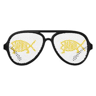 Original Darwin Fish (Mustard) Aviator Sunglasses