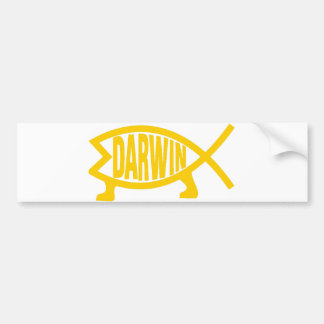 Original Darwin Fish (Mustard) Bumper Sticker