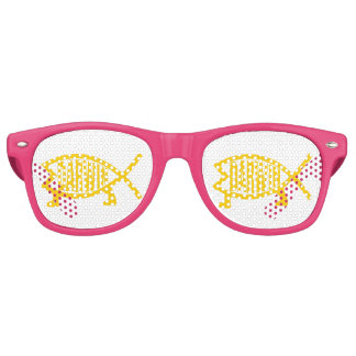 Original Darwin Fish (Mustard) Retro Sunglasses
