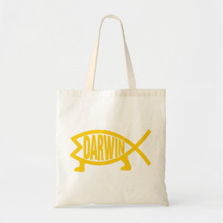 Original Darwin Fish (Mustard) Tote Bag