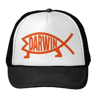 Original Darwin Fish (Neon Orange) Cap