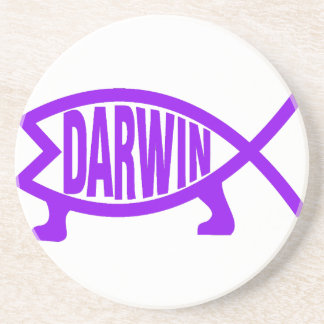 Original Darwin Fish (Purple) Coaster