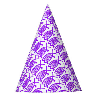Original Darwin Fish (Purple) Party Hat