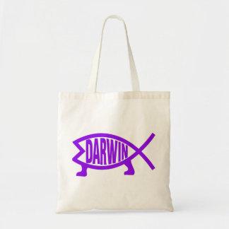 Original Darwin Fish (Purple) Tote Bag