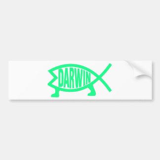 Original Darwin Fish (Seafoam) Bumper Sticker