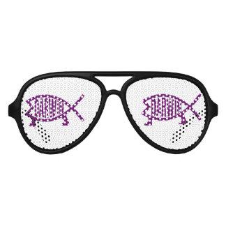 Original Darwin Fish (Violet) Aviator Sunglasses