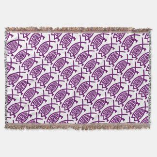 Original Darwin Fish (Violet) Throw Blanket