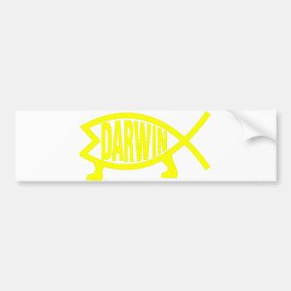 Original Darwin Fish (Yellow) Bumper Sticker