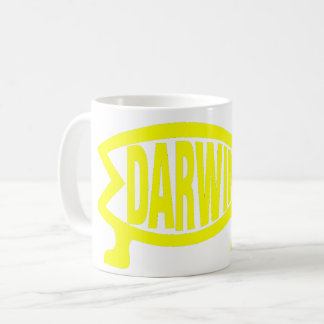 Original Darwin Fish (Yellow) Coffee Mug