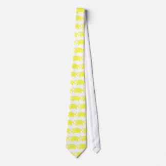 Original Darwin Fish (Yellow) Tie