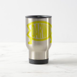 Original Darwin Fish (Yellow) Travel Mug