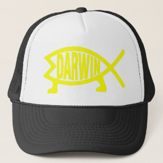 Original Darwin Fish (Yellow) Trucker Hat